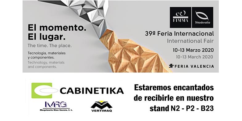 Te esperamos en la 39ª Feria Internacional FIMMA 2020
