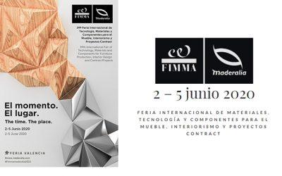 FIMMA – Maderalia traslada su próxima edición del 2 al 5 de junio 2020 en Feria Valencia